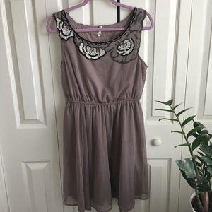 Beautiful dusty grey purple  dress